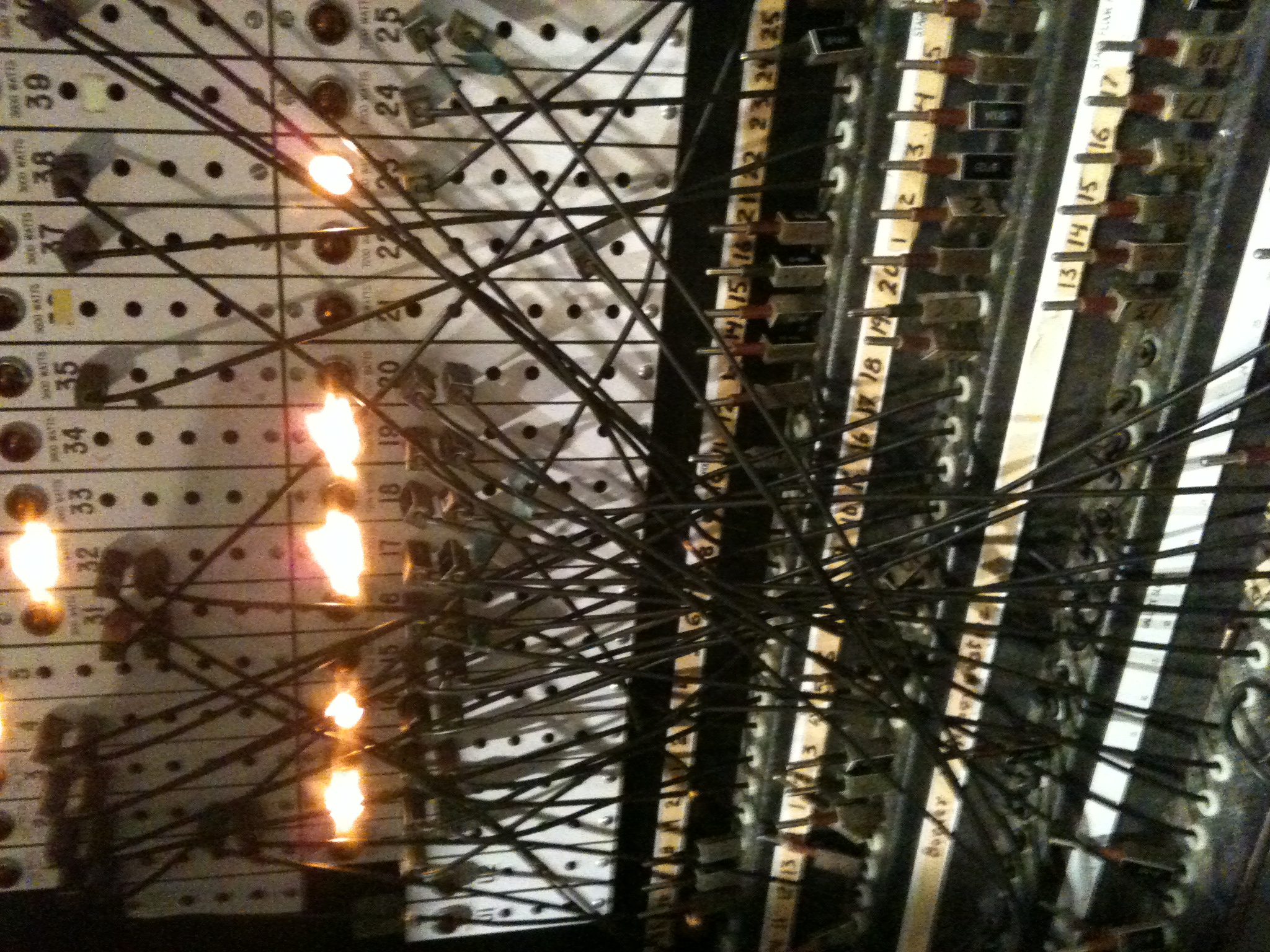 Another cool thing they do have in use is their patch panel. Our lighting director Annie took this picture & lighting « HeadsetChatter Blog azcodes.com